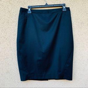 Ted Baker London black pencil skirt wool blend 3